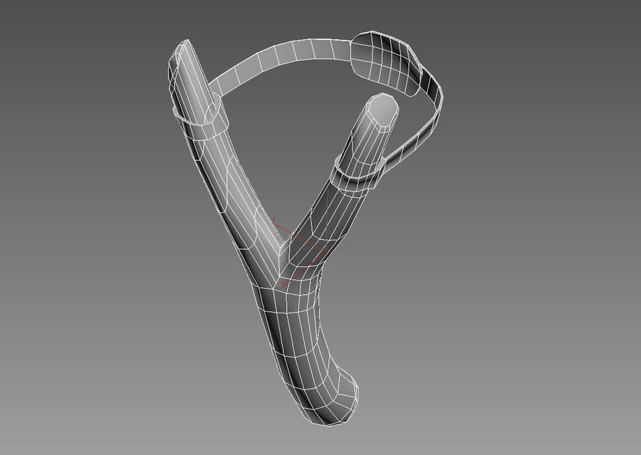 Slingshot low poly royalty-free 3d model - Preview no. 8