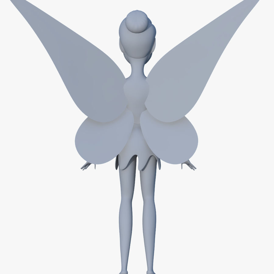 Tinker Bell royalty-free 3d model - Preview no. 6