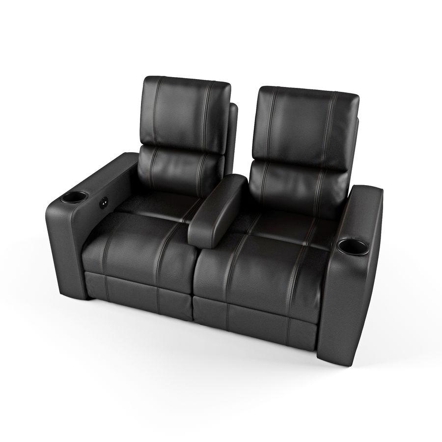 Krzesła do teatru royalty-free 3d model - Preview no. 2