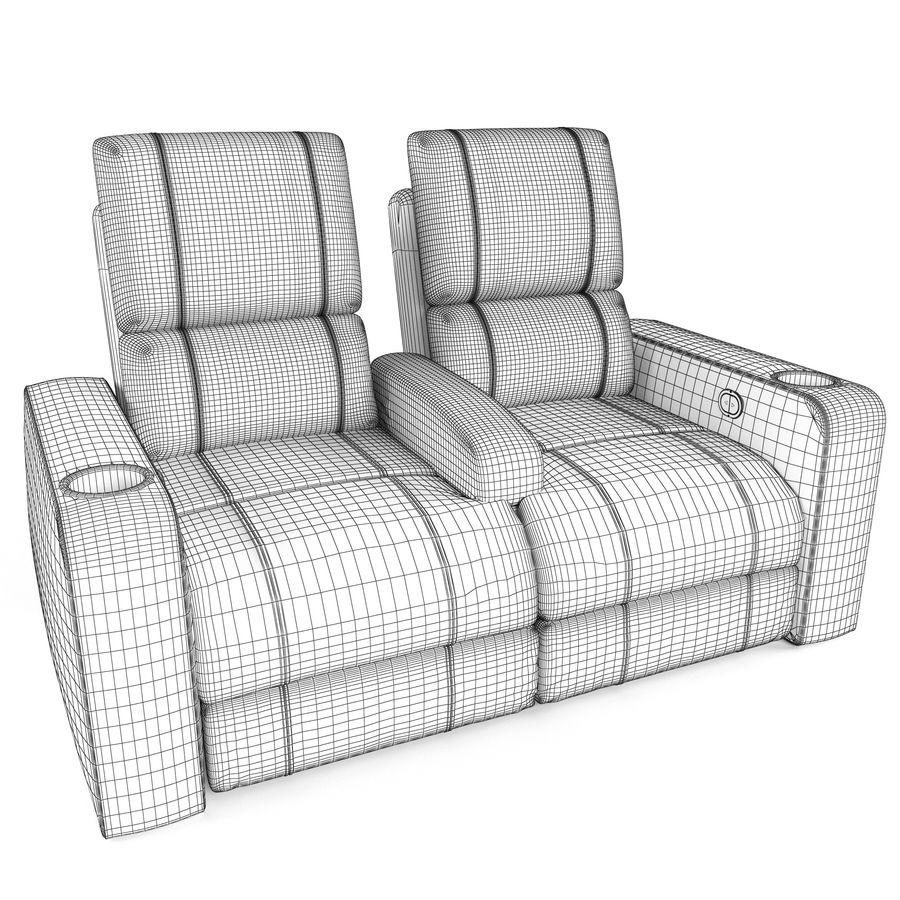 Krzesła do teatru royalty-free 3d model - Preview no. 4