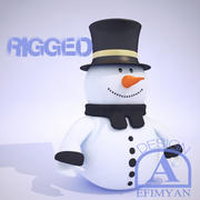 SnowMan Rigged 3d model