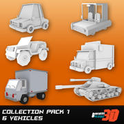 Collection Low Poly Six Pack 1 3d model