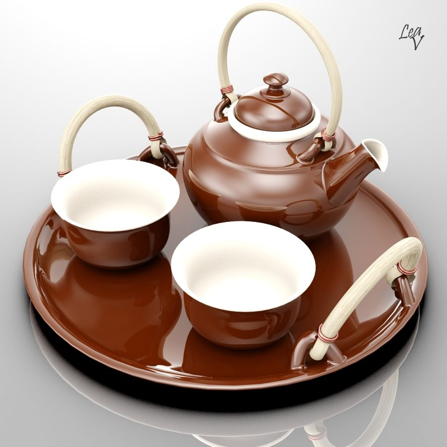 Ceramic set royalty-free 3d model - Preview no. 5