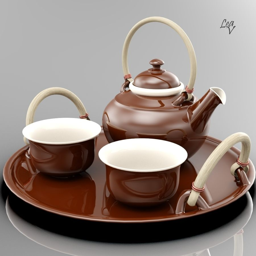 Ceramic set royalty-free 3d model - Preview no. 1