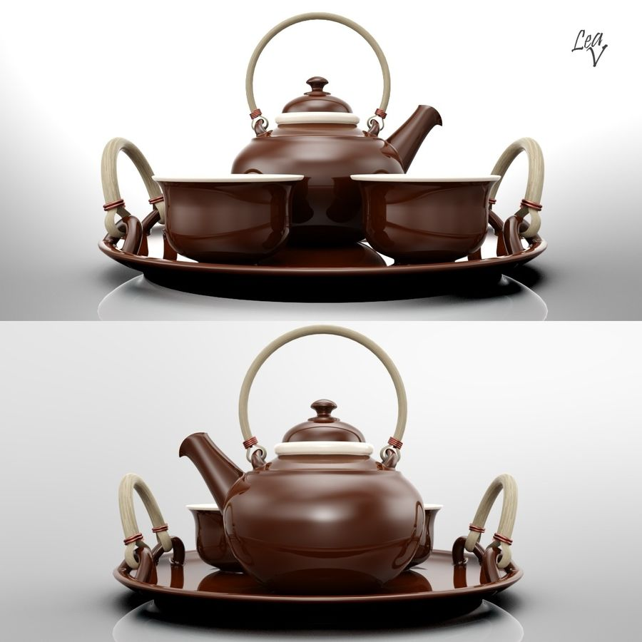 Ceramic set royalty-free 3d model - Preview no. 2