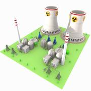 Cartoon Nuclear Power Plant 3d model