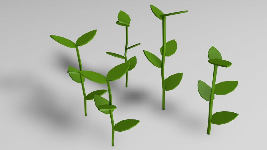 Planten (laag poly) royalty-free 3d model - Preview no. 3