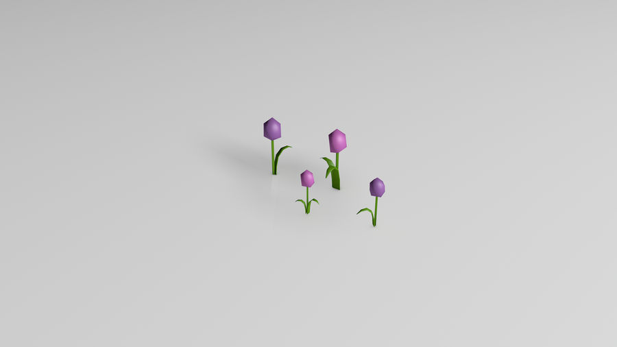 Plants (Low Poly) royalty-free 3d model - Preview no. 9