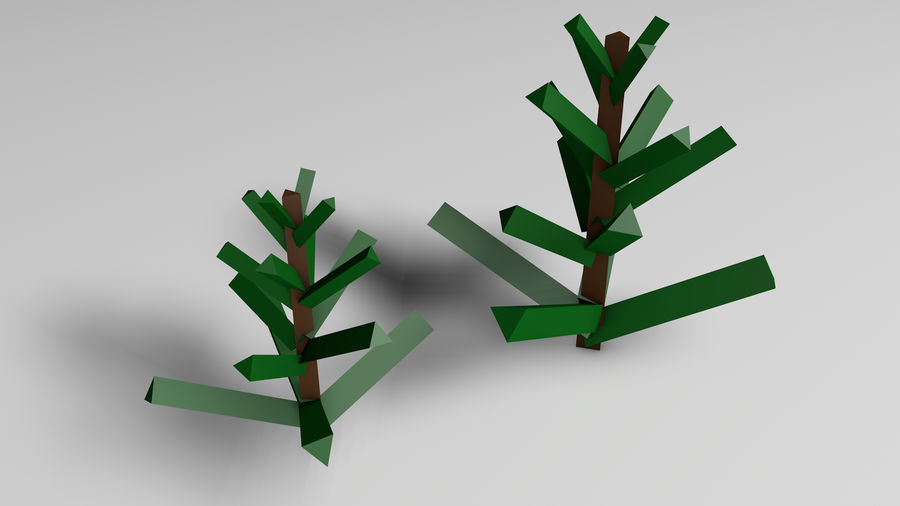 Plants (Low Poly) royalty-free 3d model - Preview no. 4
