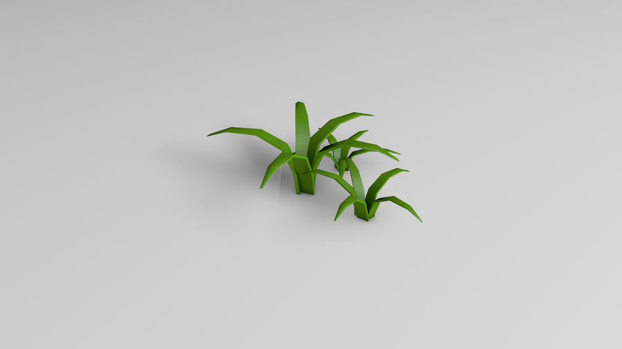 Planten (laag poly) royalty-free 3d model - Preview no. 6