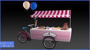 Sweets Cart 3d model