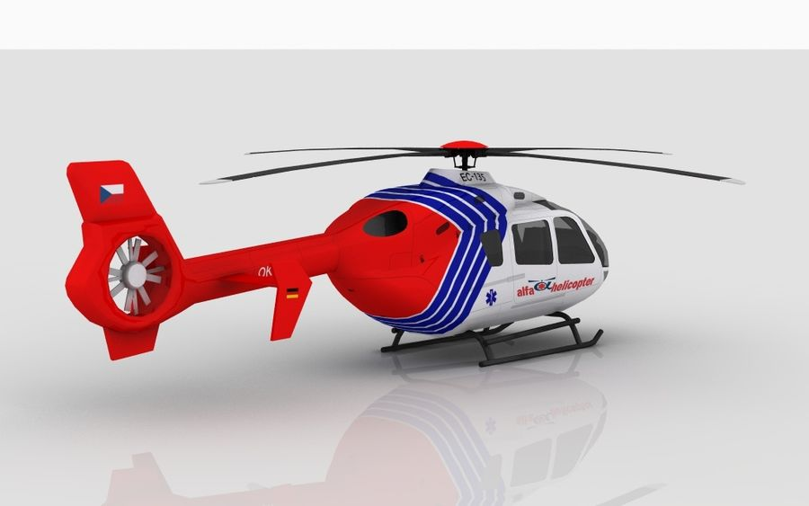 EC-135 Alfa Helikopteri royalty-free 3d model - Preview no. 6