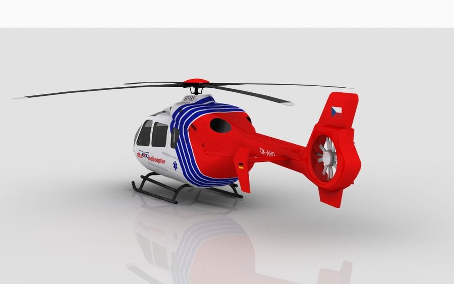 EC-135 Alfa Helikopteri royalty-free 3d model - Preview no. 7