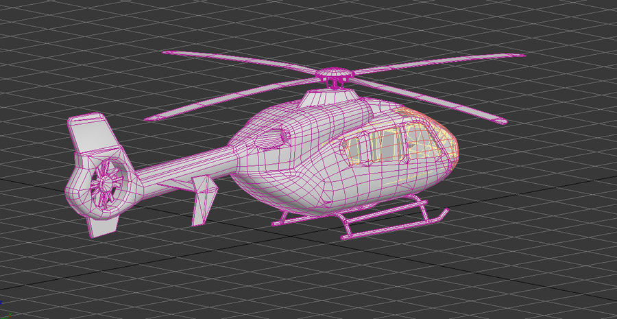 EC-135 Alfa Helikopteri royalty-free 3d model - Preview no. 5