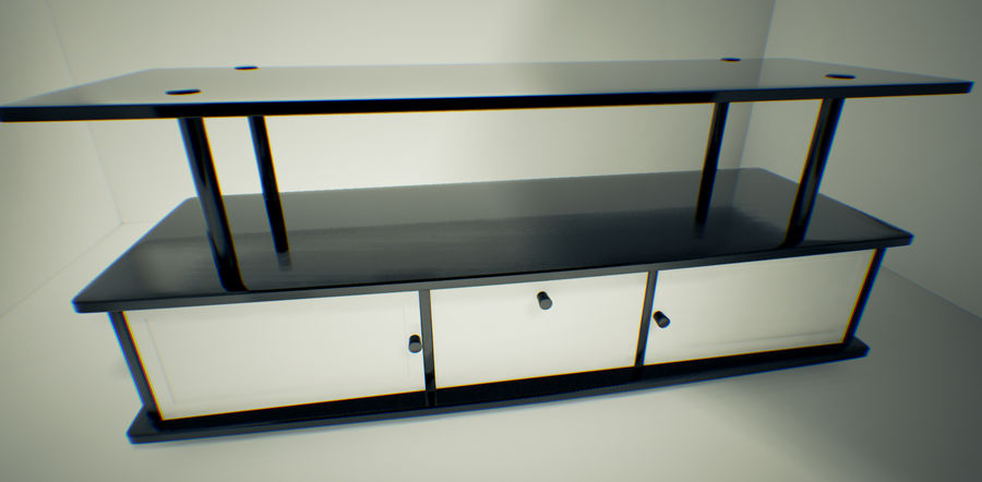 Tv Cabinet royalty-free 3d model - Preview no. 4