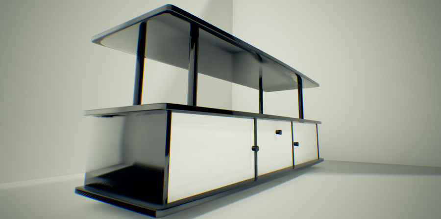 Tv Cabinet royalty-free 3d model - Preview no. 2
