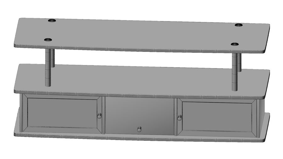 Tv Cabinet royalty-free 3d model - Preview no. 6