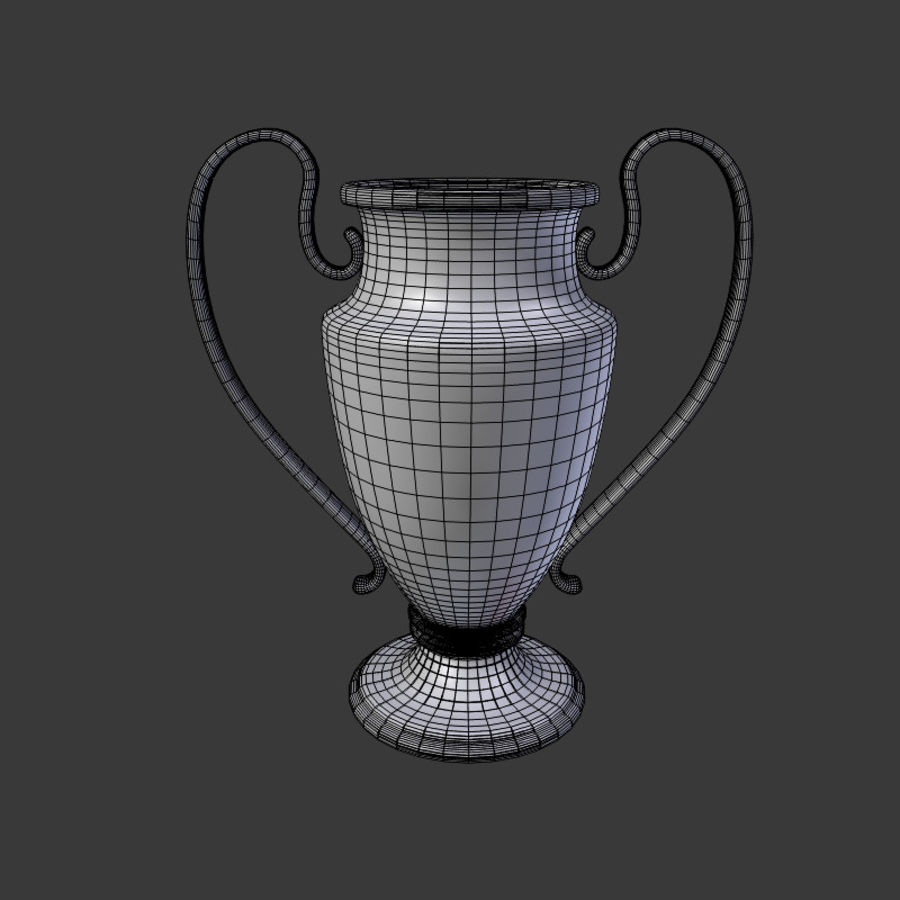 Trophy Cup V1 royalty-free 3d model - Preview no. 8