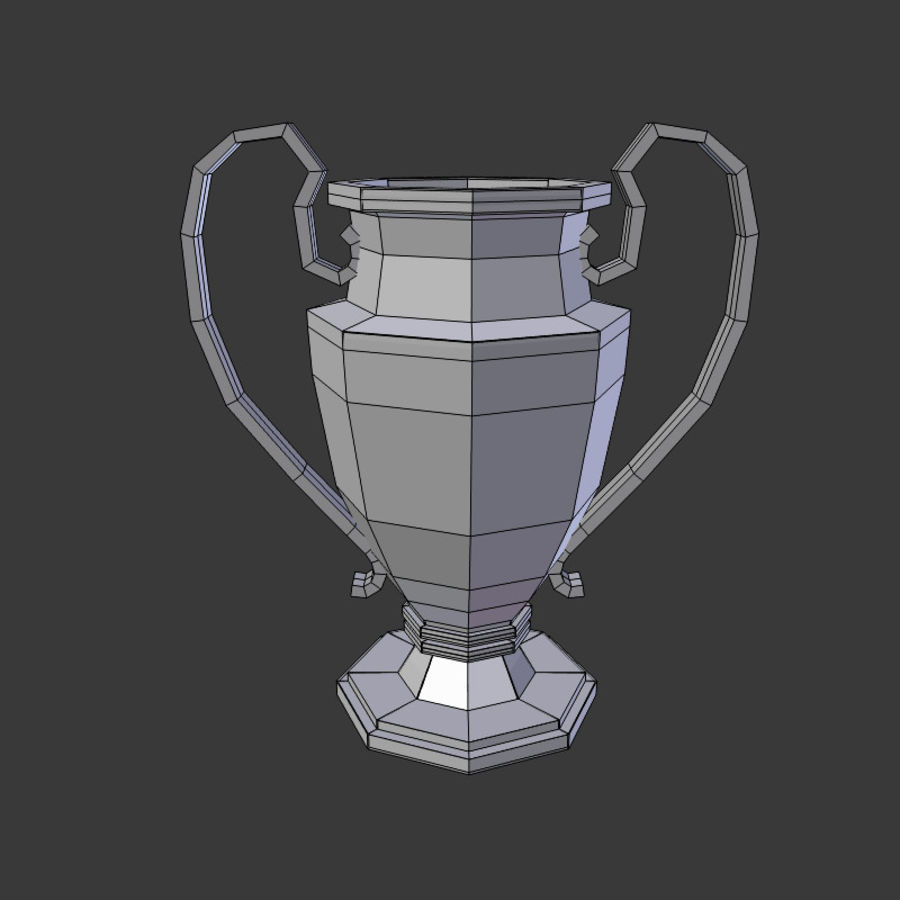 Trophy Cup V1 royalty-free 3d model - Preview no. 6