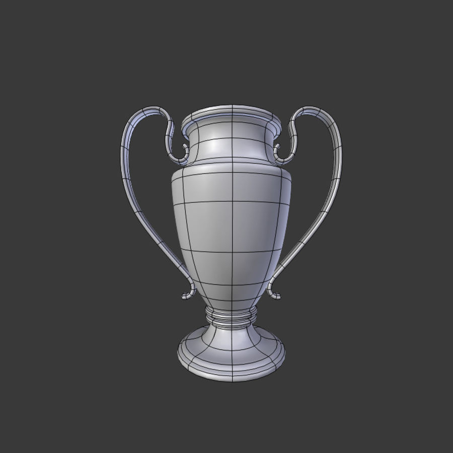 Trophy Cup V1 royalty-free 3d model - Preview no. 16