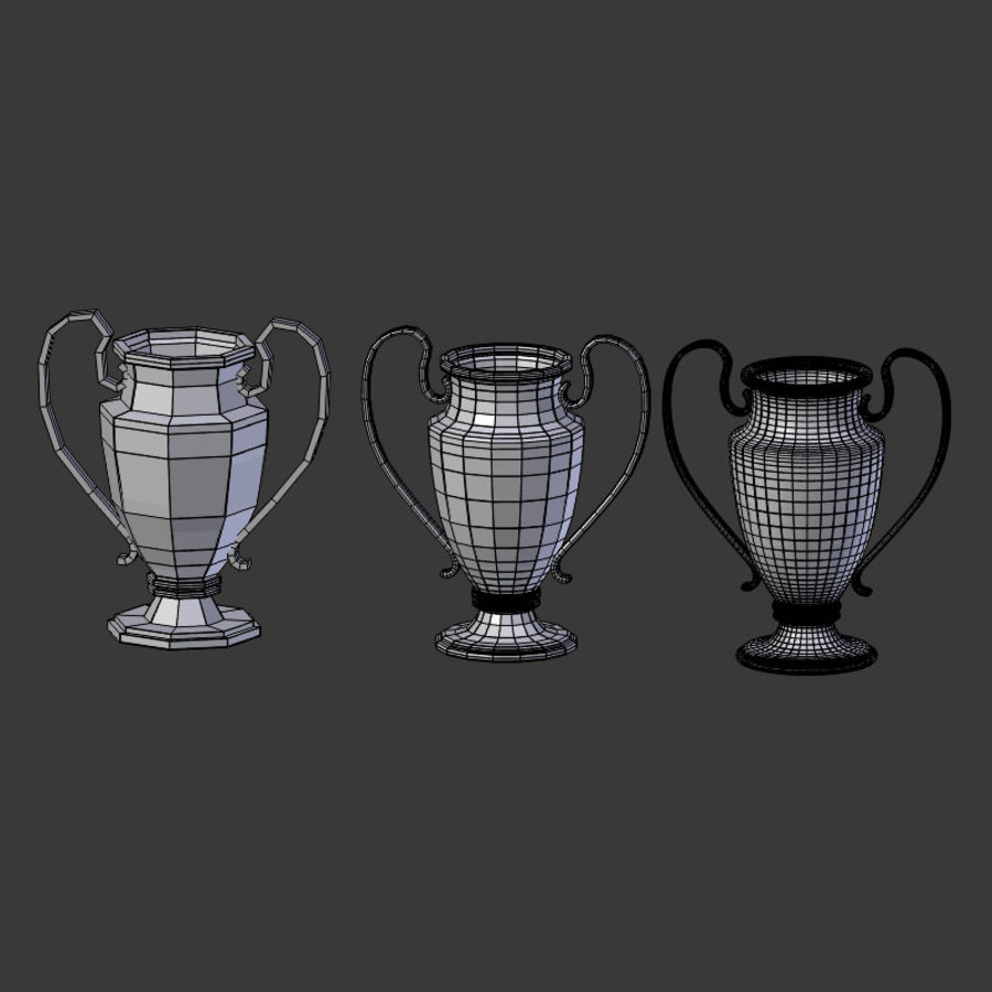 Trophy Cup V1 royalty-free 3d model - Preview no. 21