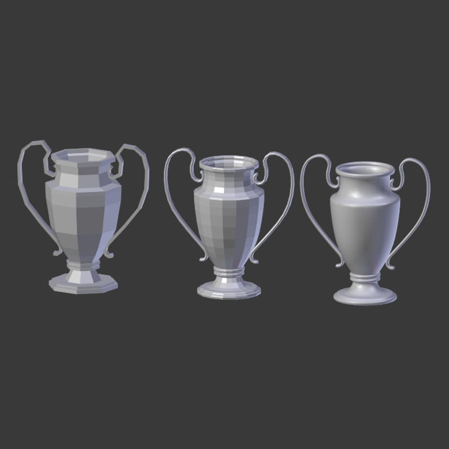 Trophy Cup V1 royalty-free 3d model - Preview no. 20