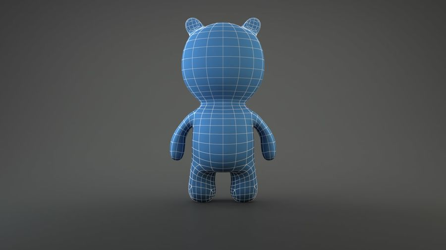 Bear Heroes royalty-free 3d model - Preview no. 2