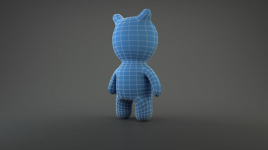 Bear Heroes royalty-free 3d model - Preview no. 6