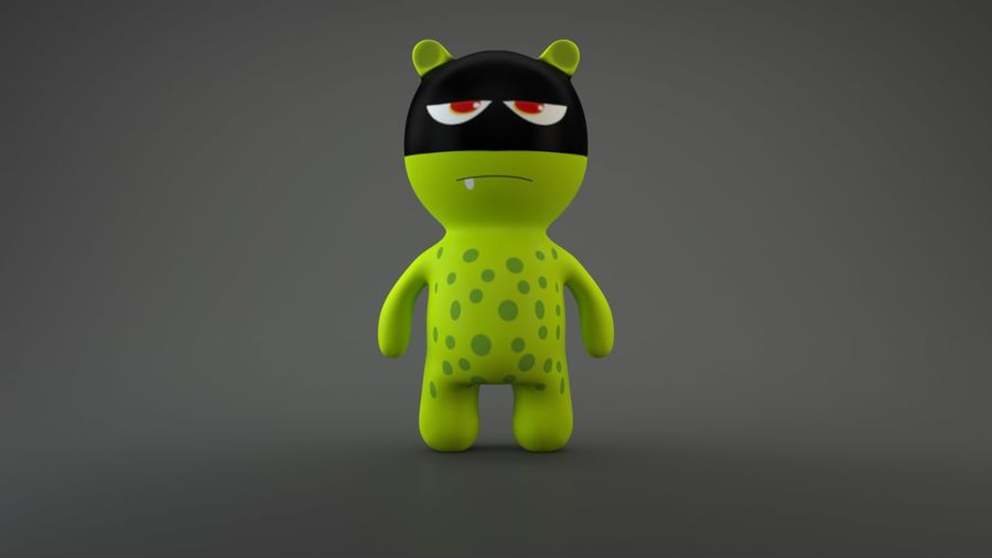 Bear Heroes royalty-free 3d model - Preview no. 9