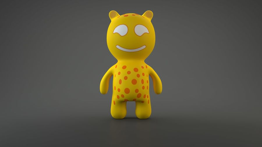 Bear Heroes royalty-free 3d model - Preview no. 11
