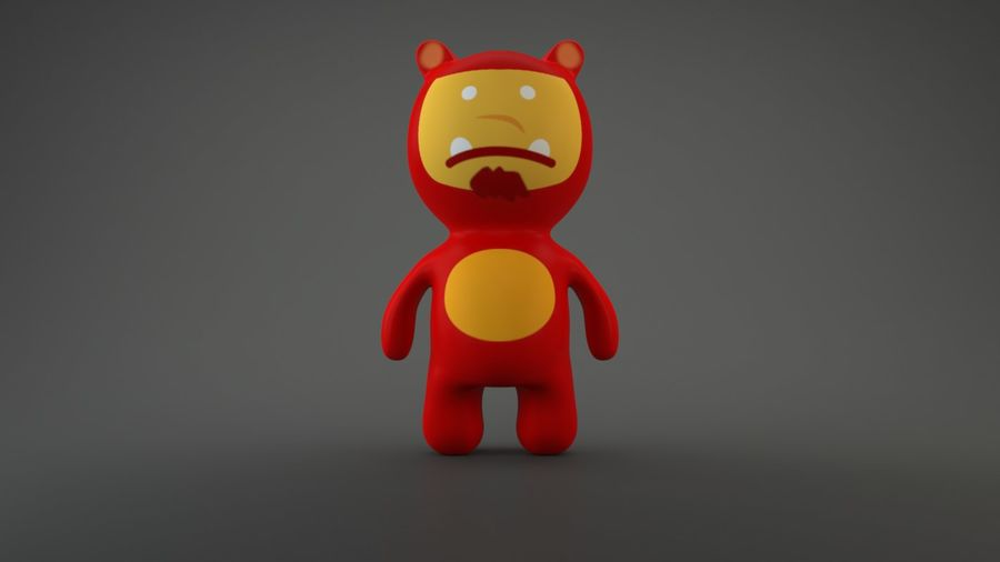 Bear Heroes royalty-free 3d model - Preview no. 13
