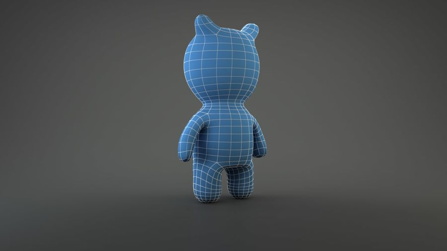 Bear Heroes royalty-free 3d model - Preview no. 5