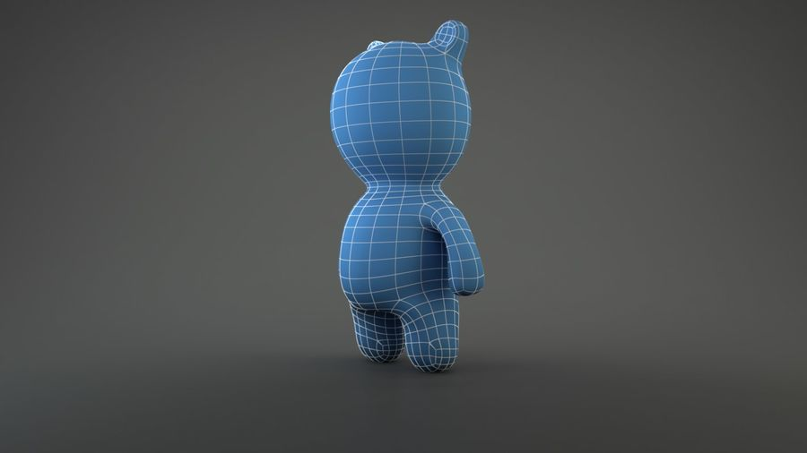 Bear Heroes royalty-free 3d model - Preview no. 3