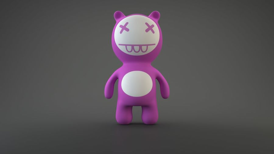 Bear Heroes royalty-free 3d model - Preview no. 10