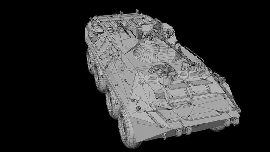 Military Tank royalty-free 3d model - Preview no. 7