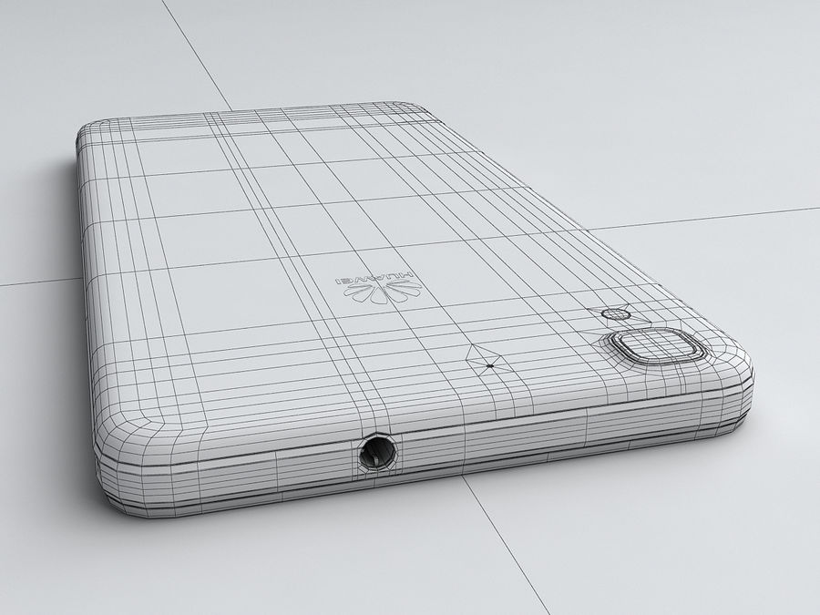 Huawei Y6 royalty-free 3d model - Preview no. 23