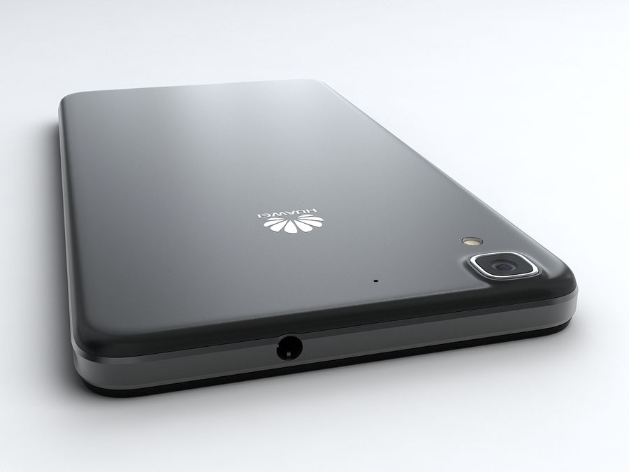 Huawei Y6 royalty-free 3d model - Preview no. 7