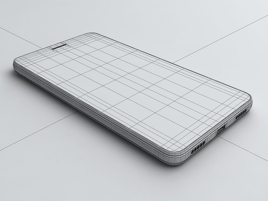 Huawei Y6 royalty-free 3d model - Preview no. 19