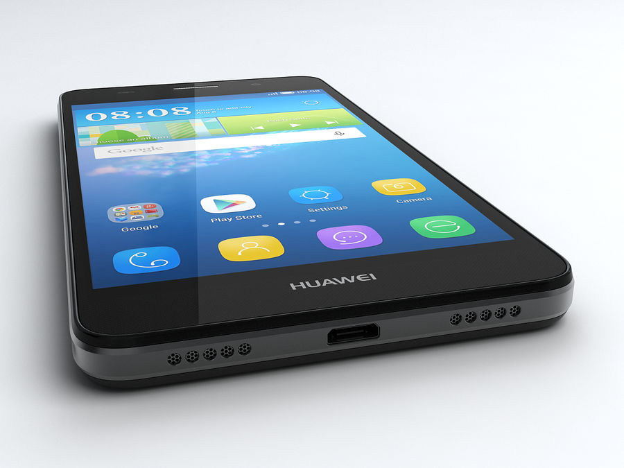 Huawei Y6 royalty-free 3d model - Preview no. 5