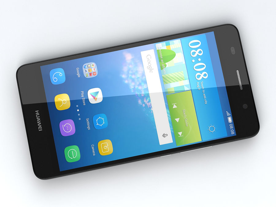 Huawei Y6 royalty-free 3d model - Preview no. 11