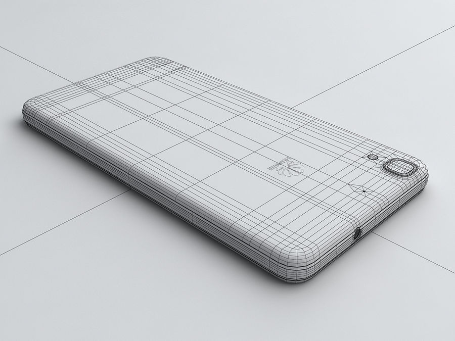 Huawei Y6 royalty-free 3d model - Preview no. 21