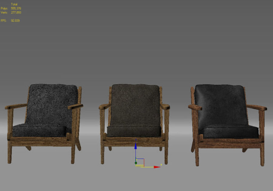 Brooks Lounge Chair (Arm chair) royalty-free 3d model - Preview no. 30