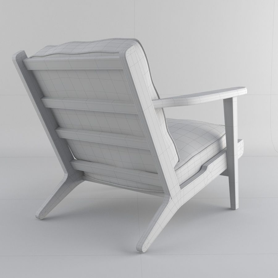 Brooks Lounge Chair (Arm chair) royalty-free 3d model - Preview no. 28