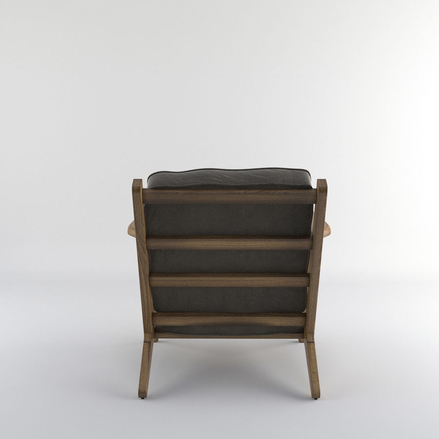 Brooks Lounge Chair (Arm chair) royalty-free 3d model - Preview no. 21