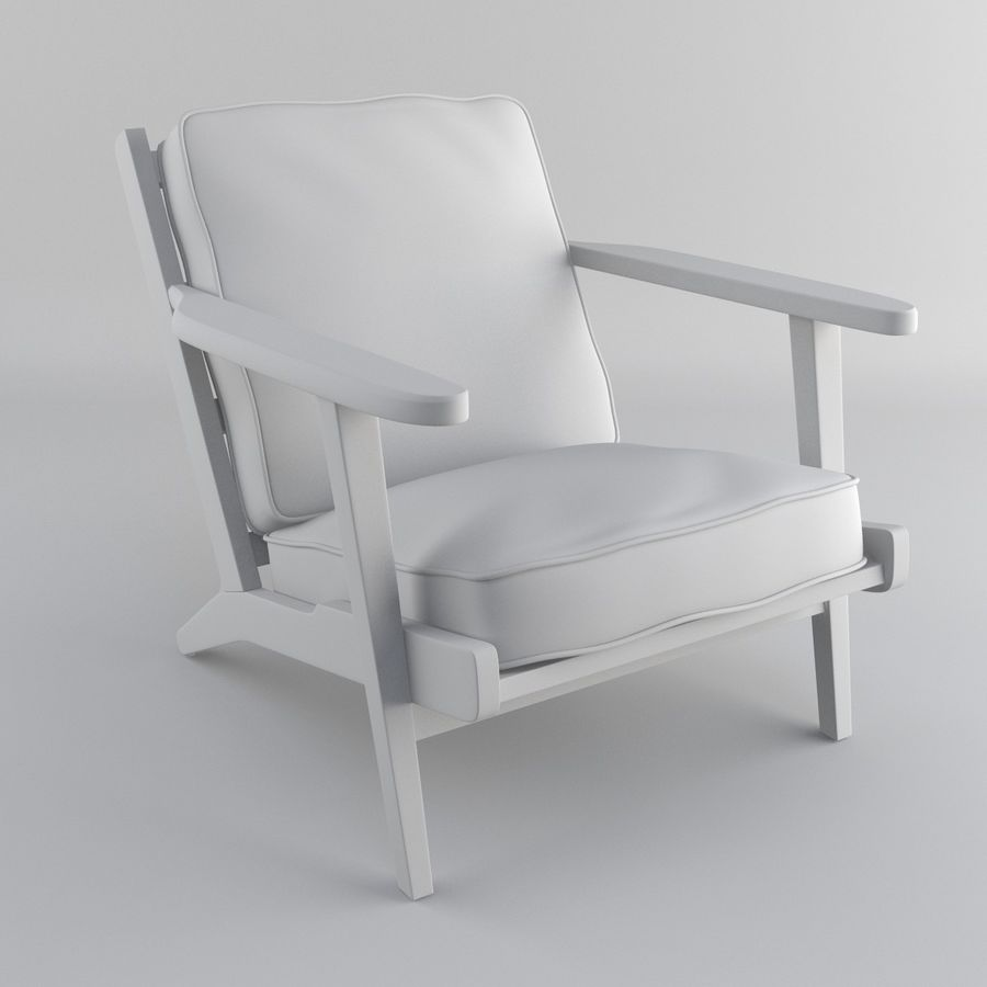 Brooks Lounge Chair (Arm chair) royalty-free 3d model - Preview no. 29