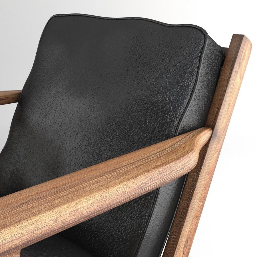 Brooks Lounge Chair (Arm chair) royalty-free 3d model - Preview no. 8