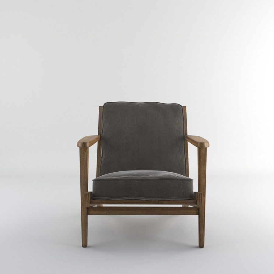 Brooks Lounge Chair (Arm chair) royalty-free 3d model - Preview no. 19