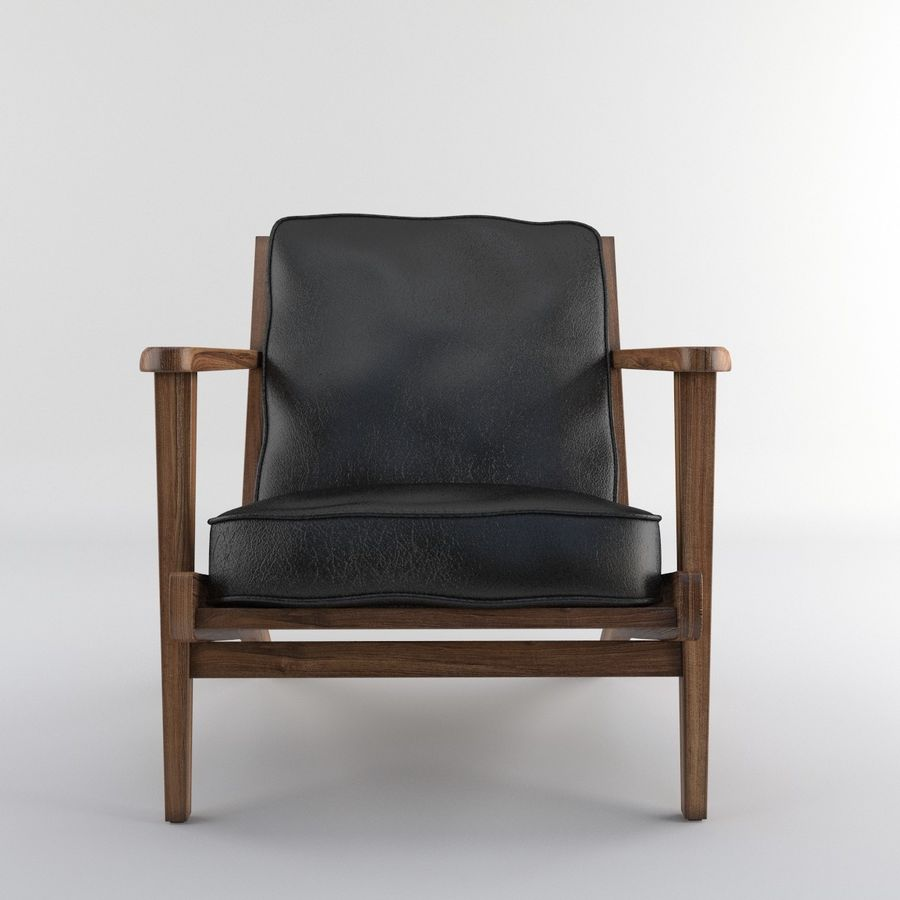 Brooks Lounge Chair (Arm chair) royalty-free 3d model - Preview no. 22