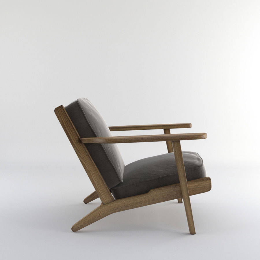 Brooks Lounge Chair (Arm chair) royalty-free 3d model - Preview no. 7