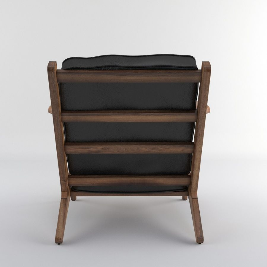 Brooks Lounge Chair (Arm chair) royalty-free 3d model - Preview no. 16